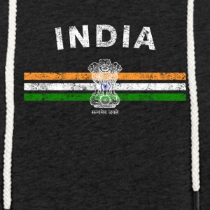 Indische Flagge Shirt - Indian Emblem & India Flag Shi - Leichtes Kapuzensweatshirt Unisex