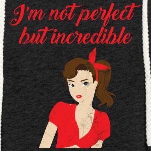 Pin-Up Girl / Rockabilly / 50: No soy perfecto - Sudadera ligera unisex con capucha