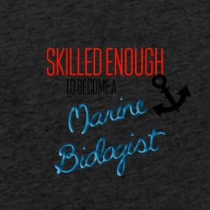 Skilled enough to become a marine biologist - Light Unisex Sweatshirt Hoodie