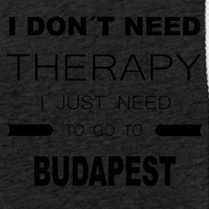 i dont need therapy i just need to go to BUDAPES - Leichtes Kapuzensweatshirt Unisex