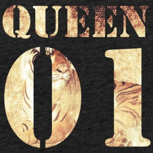 Queen01 | tiger - Let sweatshirt med hætte, unisex