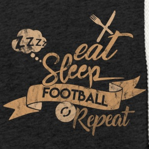 EAT SLEEP FODBOLD REPEAT - Let sweatshirt med hætte, unisex