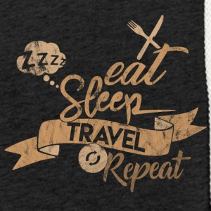 EAT SLEEP REPEAT DE VOYAGE - Sweat-shirt à capuche léger unisexe