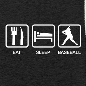 Eat Sleep Baseball - Lätt luvtröja unisex
