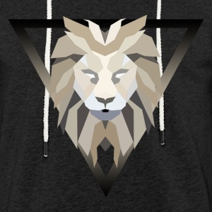 Polygonal lion - Light Unisex Sweatshirt Hoodie