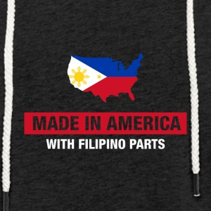 Made In America med filippinsk Dele Filippinerne - Let sweatshirt med hætte, unisex
