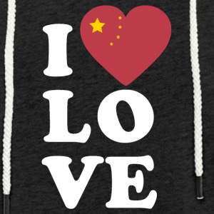 I love China - Light Unisex Sweatshirt Hoodie