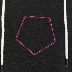 Shifted polygon Pink - Light Unisex Sweatshirt Hoodie