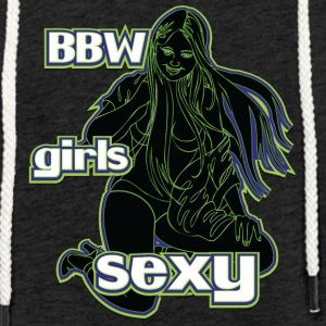 bbw girls sexy black green - Light Unisex Sweatshirt Hoodie