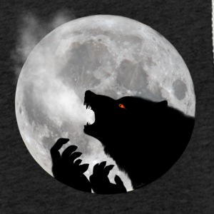 Werewolf in front of moon - Light Unisex Sweatshirt Hoodie