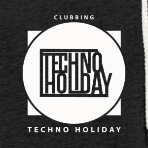 logo_techno_holiday_2017_blanco - Light Unisex Sweatshirt Hoodie