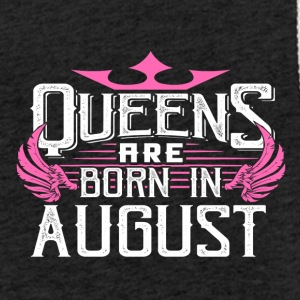 Queens er født i august - Let sweatshirt med hætte, unisex