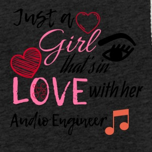 Just a girl that's in love with her Audio Engineer - Light Unisex Sweatshirt Hoodie