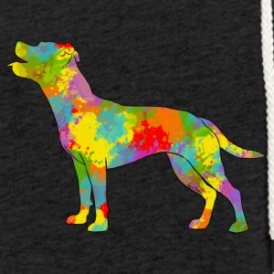Staffie Multicolore - Sweat-shirt à capuche léger unisexe
