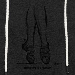 Climbing is a dance - Light Unisex Sweatshirt Hoodie