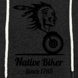 nativebiker blak - Light Unisex Sweatshirt Hoodie