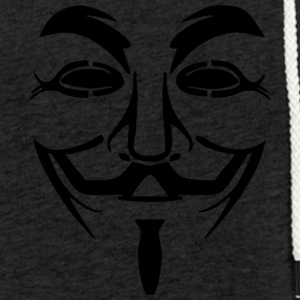 anonymous mask - Light Unisex Sweatshirt Hoodie