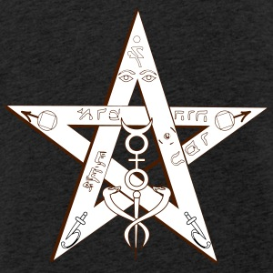 Pentagramm Magic - Leichtes Kapuzensweatshirt Unisex