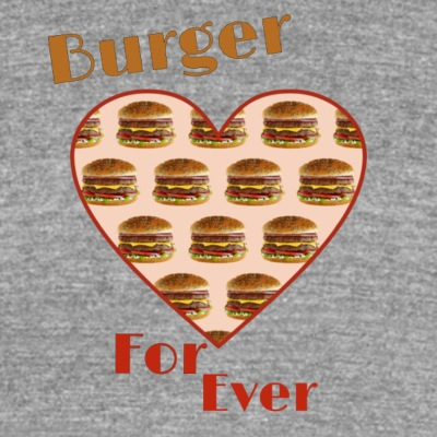 Burger for ever - T-shirt chiné Bella + Canvas Unisexe