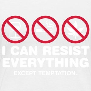 I Can Not Resist The Temptation! - Women's Organic Longsleeve
