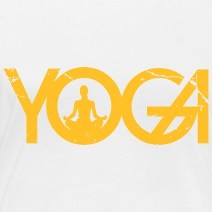 Yoga writing with woman in grunge style - Women's Organic Longsleeve