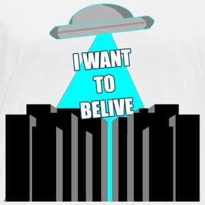 UFO: i want to belive! - Women's Organic Longsleeve Shirt by Stanley & Stella