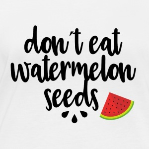Dont eat watermelon seeds - black - Women's Organic Longsleeve