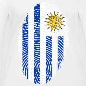 URUGUAY FINGERABPRESSION. SOUTH AMERICA SPANISH - Women's Organic Longsleeve Shirt by Stanley & Stella