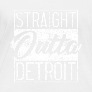 Straight Outta Detroit Distressed - Women's Organic Longsleeve Shirt by Stanley & Stella