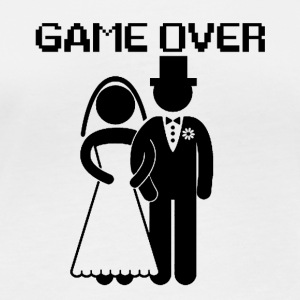 GAME OVER - Langarmet øko-T-skjorte for kvinner
