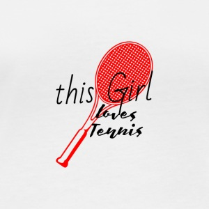 This woman loves tennis Loves tennis red - Women's Organic Longsleeve
