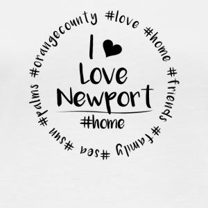 I love Newport - Orange County - Frauen Bio-Langarmshirt