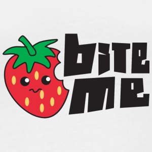 Fruit / Fruit: Strawberry - Bite Me - Women's Organic Longsleeve Shirt by Stanley & Stella