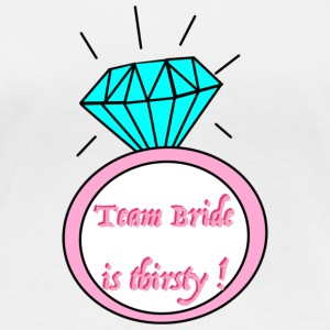 team bride is thirsty - Frauen Bio-Langarmshirt