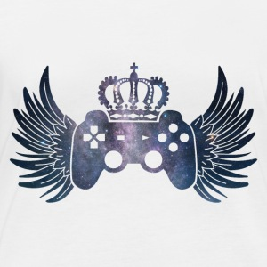 Controller Symbol Controller with wings and crown - Women's Organic Longsleeve Shirt by Stanley & Stella