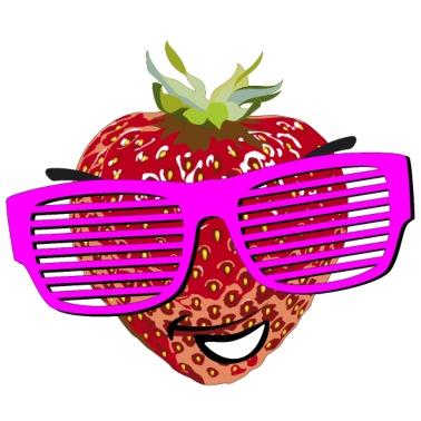 Erdbeere freche Frucht freches Früchtchen sexy Frauen T