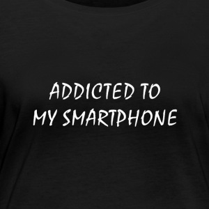 Addicted to my smartphone - Women's Organic Longsleeve Shirt by Stanley & Stella