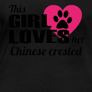 DOG THIS GIRL LOVES GIFT Chinese crested - Women's Organic Longsleeve Shirt by Stanley & Stella