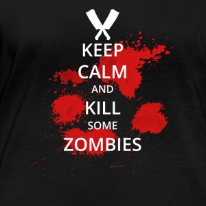 kill zombies keep calm halloween trick treat suess - Frauen Bio-Langarmshirt von Stanley & Stella