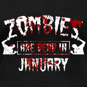 zombies are dead in january - Geburtstag Birthday - Frauen Bio-Langarmshirt