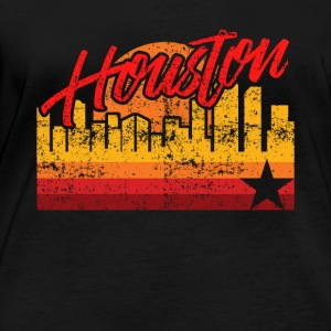 Houston Baseball Throwback Astro Stripe - T-shirt manches longues bio Stanley & Stella Femme