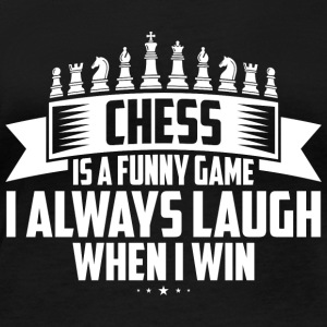 CHESS IS A FUNNY GAME - Women's Organic Longsleeve Shirt by Stanley & Stella