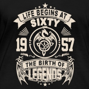 1957 THE BIRTH OF LEGENDS SHIRT - Women's Organic Longsleeve Shirt by Stanley & Stella