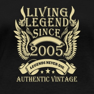 Living Legends Since 2005 Authentic Vintage - Økologisk Stanley & Stella langærmet T-shirt til damer