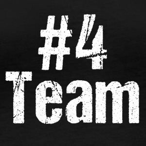 Team Team Player hashtag Nummer 4 fire hold - Langærmet øko-dame-T-shirt