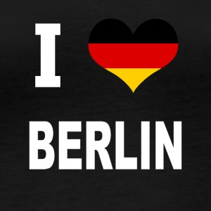 I Love Germany BERLIN - Langarmet øko-T-skjorte for kvinner