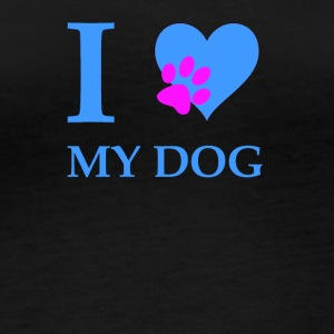 i love my dog ​​blue / pink - Women's Organic Longsleeve Shirt by Stanley & Stella