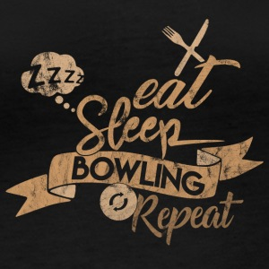 EAT SLEEP BOWLING REPEAT - T-shirt manches longues bio Stanley & Stella Femme