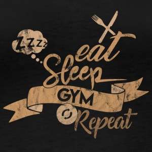 EAT SLEEP REPEAT GYM - T-shirt manches longues bio Femme