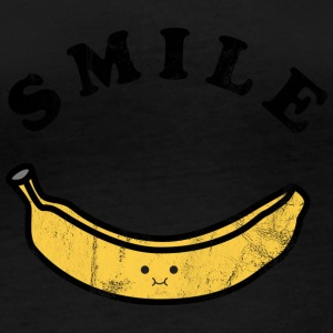 Fruit / Fruits: Banana - Laugh - Smile - Women's Organic Longsleeve